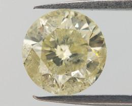 0.617 Diamond For Ring , Loose Yellow Diamond