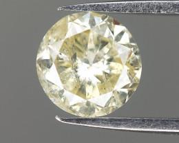 0.47 Cts , Antique natural diamond , Light Yellow Gemstone