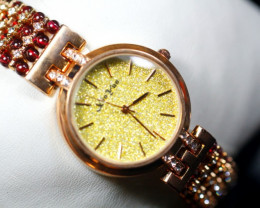Natural Garnet Gemstones Watch