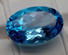21Crt Blue Topaz Natural Gemstones JI107