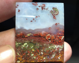 55.20 CT COLLECTOR ITEM MOSS AGATE PICTURE