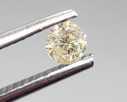 0.25ct Faint Brown  Diamond , 100% Natural Untreated