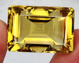 131.20 Ct. 100% Natural Top Yellow Golden Citrine Unheated Brazil Big!