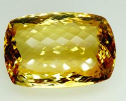 145.45  Ct. 100% Natural Top Yellow Golden Citrine Unheated Brazil Big!
