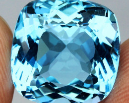 16.80 ct. 100% Natural Earth Mined Top Quality Blue Topaz Brazil