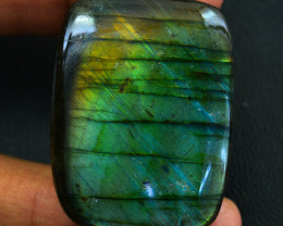 Genuine  115.00 Amazing Flash Labradorite Cabochon