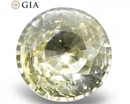 0.92 ct Round Sapphire GIA Certified Sri Lankan Unheated