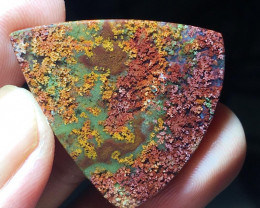 32.20 CT  MOSS AGATE GARDEN PICTURE FROM INDONESIA
