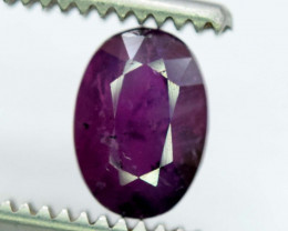 2.10 ~ Carat Purple Color Natural Corrundum Sapphire Gemstone From Kashmir