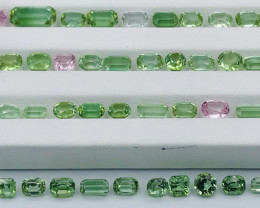46.50 Carats Natural Mixed Color Tourmaline Gemstones Parcel