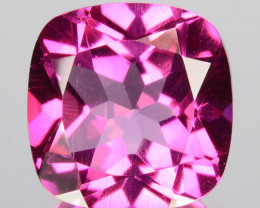 ~AWESOME~ 5.21 Cts Candy Pink Natural Topaz 10mm Cushion Cut Brazil