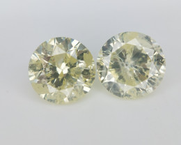 1.44 cts ,Diamonds Pair , Diamonds for earings