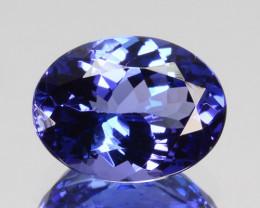 ~DAZZLING~ 1.34 Cts Natural Tanzanite Purple Blue Oval Cut Tanzania