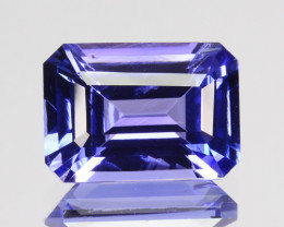 ~GLITTERING~ 1.52 Cts Natural Tanzanite Purple Blue Octagon Tanzania