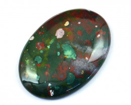 Genuine  65.00 Cts Bloodstone Oval Shape Cabochon
