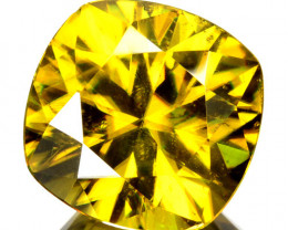 ~SPARKLING~ 6.14 Cts Natural Olive Green Sphene Cushion Cut Russia