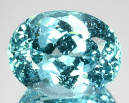 ~PARAIBA COLOR~ 9.58 Cts Natural Blue Green Apatite Oval Cut Brazil