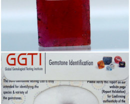 GGTI-Certified-1.70 ctPurple To Red Color Ruby Gemstone Natural