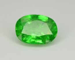 Amazing 1.55 Ct Natural Intense Vivid Green Color Tsavorite Garnet