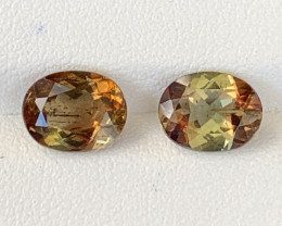4 Carats Pair Piece Natural Double Shade Color Andalusite Gemstones