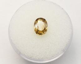Yellow Zircon - Oval Cut Natural Gemstone – 1.69ct.
