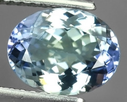 2.40 Cts Extreme Oval Cut 9.21X7.20 mm Natural Mint Greenish Blue Tanzanite