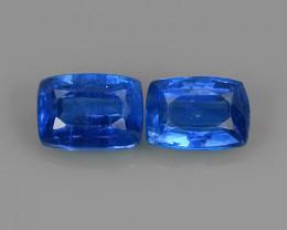 2.55 CTS EXCELLENT CORNFLOWER BLUE KYANITE CUSHION GEM!
