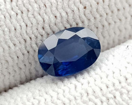 1.25CT NATURAL BLUE SAPPHIRE HEATED  BEST QUALITY GEMSTONE IIGC08