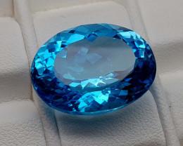 22.75Crt Blue Topaz Natural Gemstones JI108