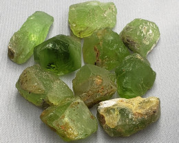 Peridot Rough 128 carats 10 pcs