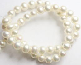 AA+++ QUALITY HIGH LUSTRE CREAMY WHITE  8.00-8.50MM NEAR ROUND FRESHWATER P