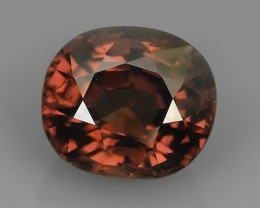 3.90 CTS~TOP LUSTROUS NATURAL CAMBODIA OVAL~BROWN ZIRCON!!