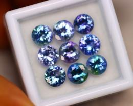7.57Ct Natural Violet Blue Tanzanite Round Cut Lot A953