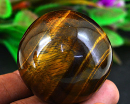 Genuine 534.00 Cts Golden Tiger Eye Healing Ball