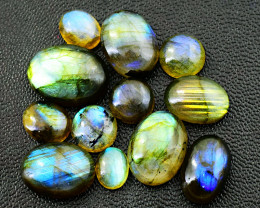 Genuine 85.00 Cts Amazing Flash Labradorite Cab Lot