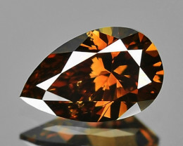 0.30 Cts Untreated Natural Fancy Orange-Brown Color Loose Diamond