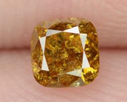 0.34 Cts Untreated Natural Fancy Vivid Orange Color Loose Diamond