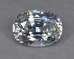 16.01 Cts  Beautiful Sparkling Lustrous Natural White Zircon