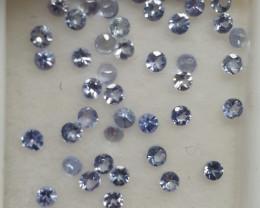 1.6 Ct Tanzanite Lot  Round 2mm (SKU177)