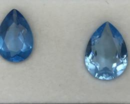 16 Carats 2 pieces Topaz Gemstones