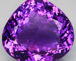 28.86  ct. Natural Top Nice Purple Amethyst Unheated Brazil - IGE Сertified