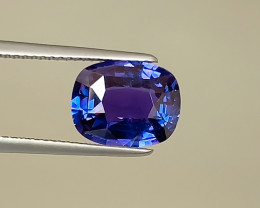 Gleaming Violet Blue Unheated Sapphire - 4.26 Cushion - Eye Clean - Madagas