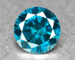 0.22 Cts Fancy Vivid Blue Color Loose Diamond