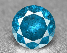 0.17 Cts Fancy Vivid Blue Color Loose Diamond