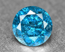 0.14 Cts Fancy Vivid Blue Color Loose Diamond