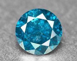 0.19 Cts Fancy Vivid Blue Color Loose Diamond