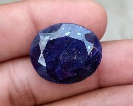 28.35 CT BLUE SAPPHIRE BIG NATURAL GEMSTONE Treated VA1385