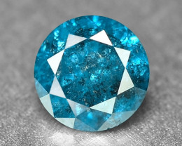 0.27 Cts Fancy Vivid Blue Color Loose Diamond