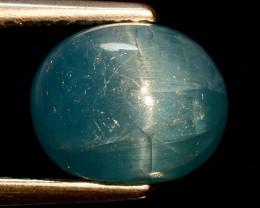 3.11 Ct Natural Cat's Eye Blue Apatite Rarest Gemstone. APC 32