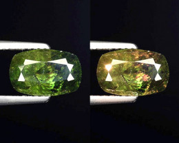 2.28 Ct Natural Sphene Color Change Sparkiling Luster Gemstone. SN 51
